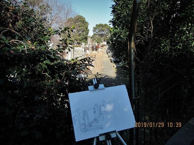 1 19.1.29 海の見える丘公園、外人墓地、元町・・・・横浜スケッチハイク (97)