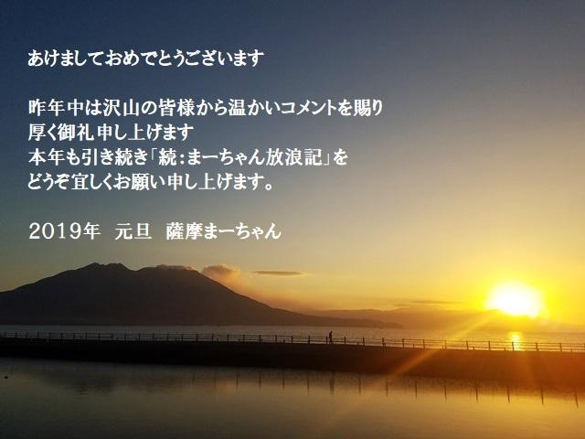 2019年賀状 コメント