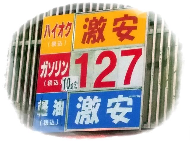 最近のガソリン価格
