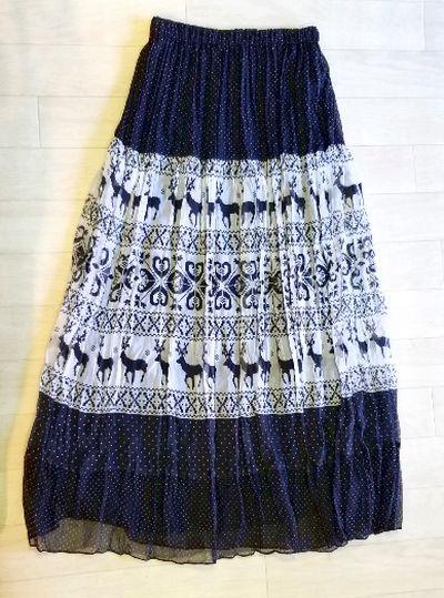 ノルディック柄スカート2