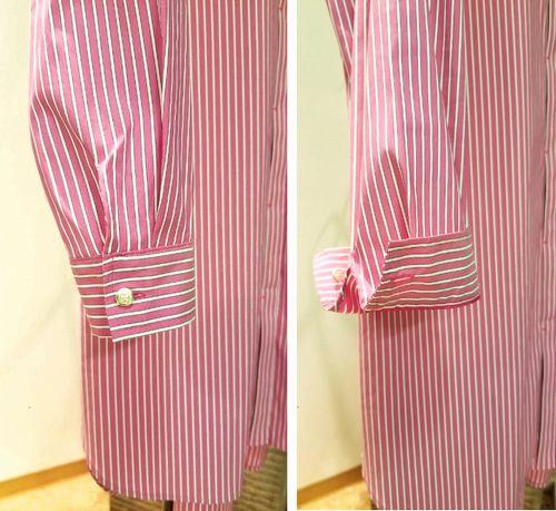 ピンクストライプロングシャツ4