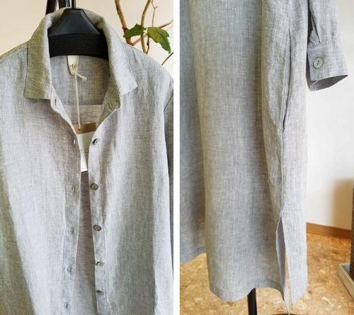麻ロングシャツ4