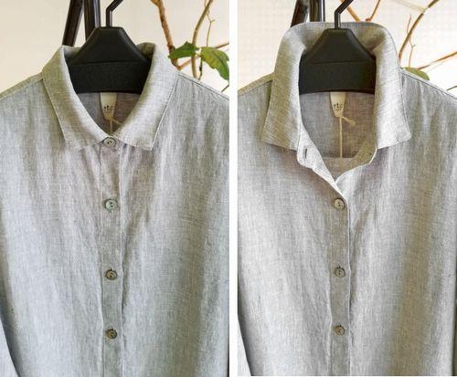 麻ロングシャツ5