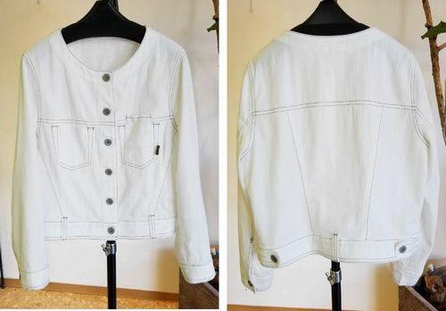 ノーカラー白ジャケット2