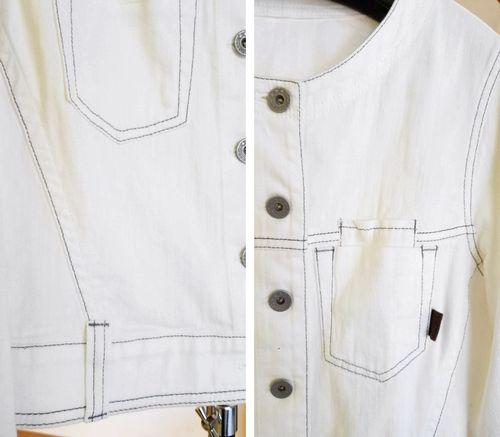 ノーカラー白ジャケット3