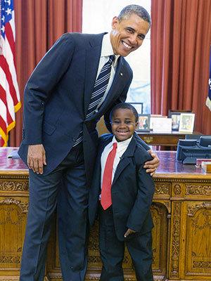 オバマ大統領と対面するキッド・プレジデント