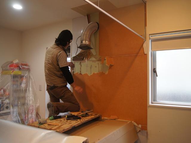 キッチンパネル修繕