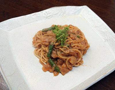 小海老のビスク風スパゲッティ