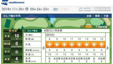 成田GC天気