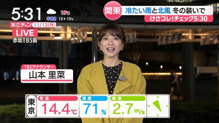 2018年11月12日山本里菜の画像01枚目