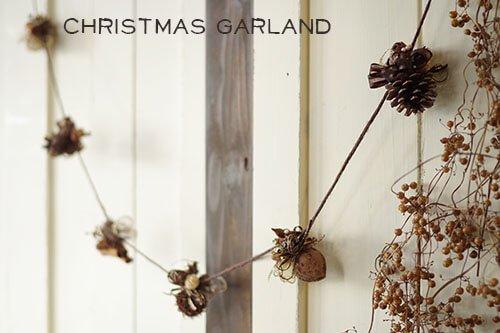 木の実のクリスマスガーランド