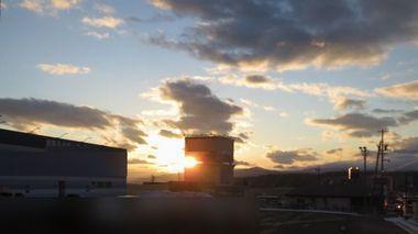 002輝く夕日2