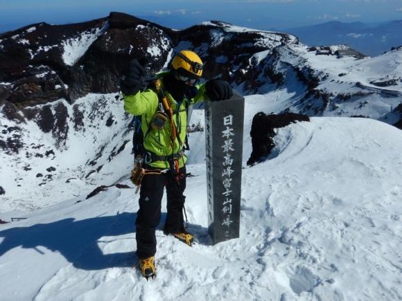 冬富士 剣ヶ峰 2019