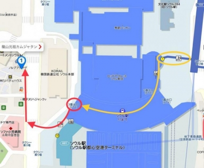 190309龍山元祖カムジャタン地図