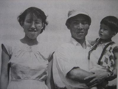 家族3人と・・・