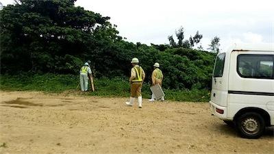 なんと住民説明会の翌日!自衛隊新基地建設の測量開始!DzadKB6U0AIk5_4