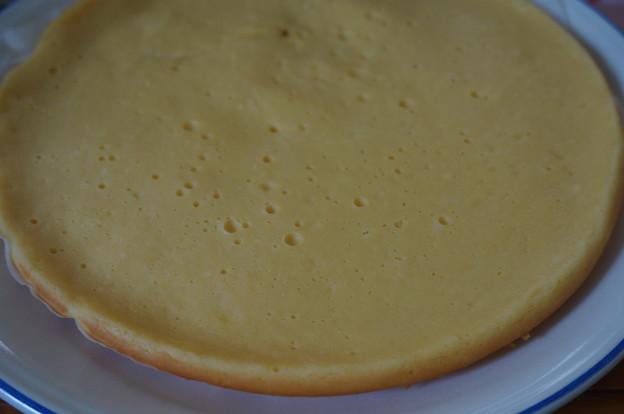 フライパンでチーズケーキ