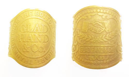 GLA DHAND GH CIGAR TAG-RING SHAKE HAND GLAD HAND&Co