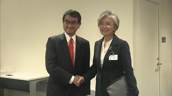 「元徴用工判決」後、初の会談へ 日韓外相23日夜スイスで