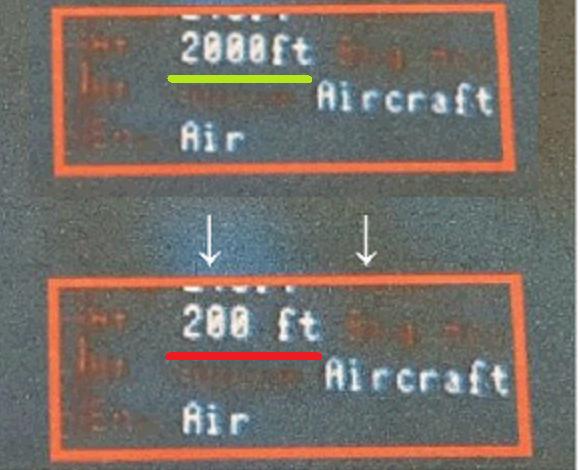 ②ー①写真については、写真に掲載されている高度の数値についても、「2000ft」から「200ft」に改竄された疑いが濃厚【話題】韓国国防省、自衛隊機との距離2000フィート(600m)から0を消して200フィート(60m