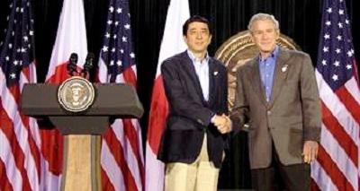 平成19年(2007年)4月26日、米下院の有力者およびブッシュ大統領との会談で、「慰安婦の方々にとって非常に困難な状況の中、辛酸をなめられたことに対し、人間として首相として心から同情している。そういう状