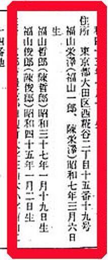 1975年8月29日に日本に帰化。帰化する前の氏名は陳哲郎(法務省告示第291号 昭和50年8月29日帰化認可、法務大臣稲葉修)。