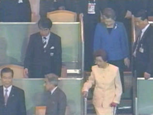 2002年日韓共催サッカーW杯決勝戦で天皇皇后両陛下に無礼を働いた金大中夫妻