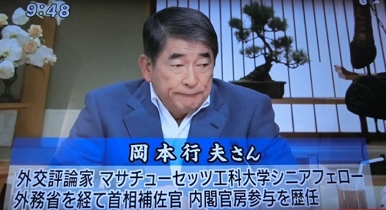 平成29年(2017年)8月13日、TBS「サンデーモーニング」で、 事実に反する嘘出鱈目の反日発言をした!