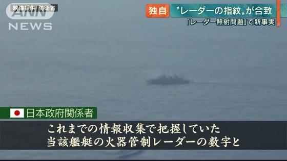 これまでの情報収集で把握していた当該艦艇の火器管制レーダーの数字と