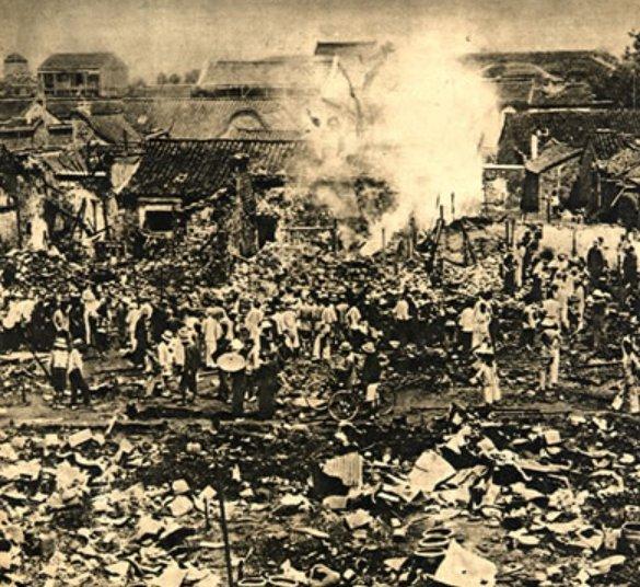 1938年11月13日、長沙市焼き払い(長沙大火Changsha fire)