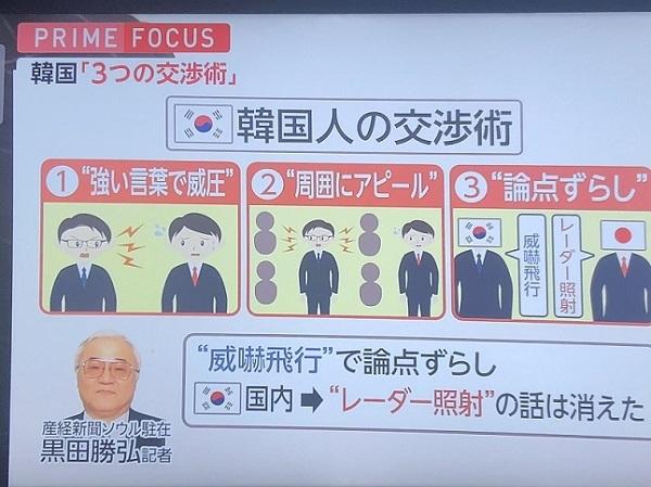 韓国人の交渉術「強い言葉で相手を威圧する」「周囲にアピールして理解者を増やす」「論点ずらして優位につく」
