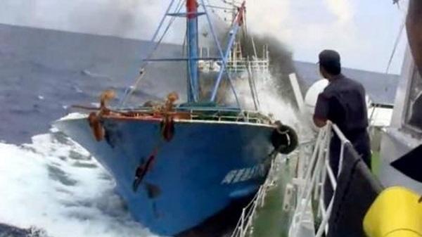 平成22年、尖閣諸島沖 支那漁船による海保巡視船へ体当たり事件