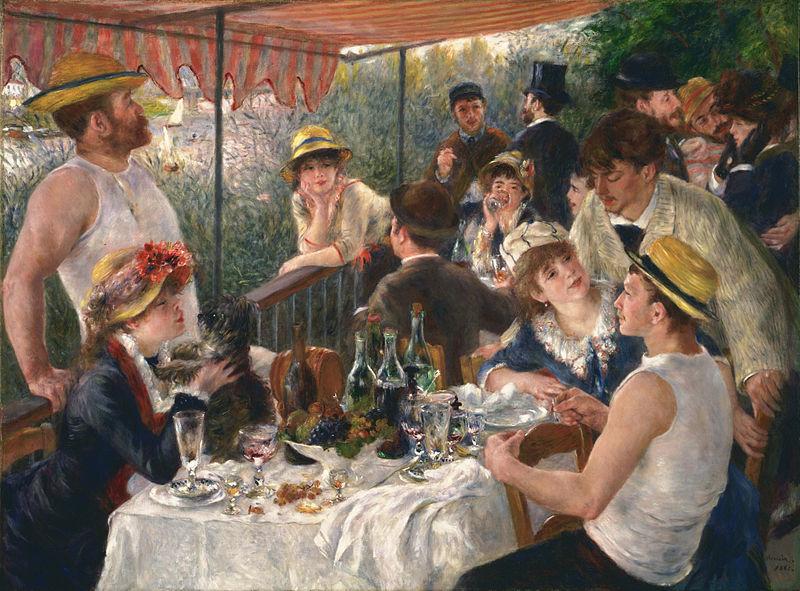 ピエールオーギュストルノワールによる昼食会(1881)