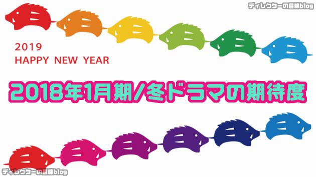 2019年1月期 / 冬ドラマの期待度