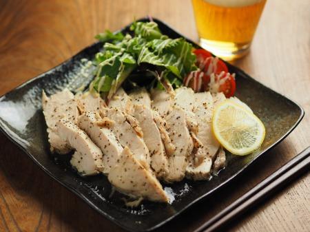 鶏むね肉の塩レモン蒸し014