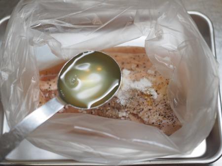 鶏むね肉の塩レモン蒸し030
