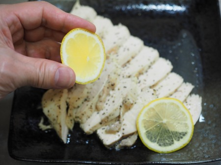 鶏むね肉の塩レモン蒸し047