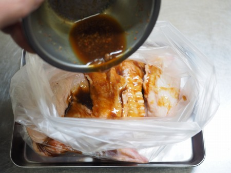 手羽先のアンチョビぽん酢焼き050