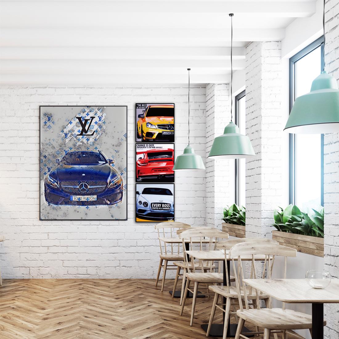 ベンツ × LV|オマージュアート/アートポスター専門店 ARTLIFE GALLERY
