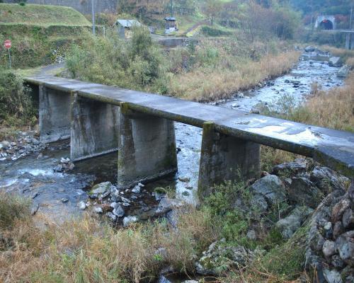 梼原川の沈下橋
