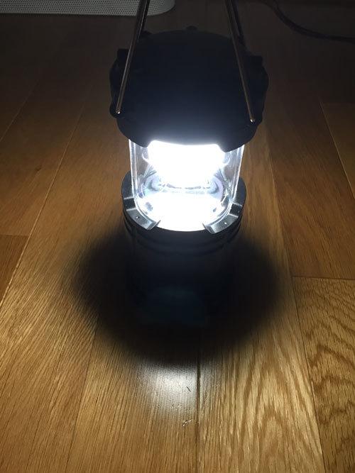 ダイソー300円伸縮ランタンライト 4