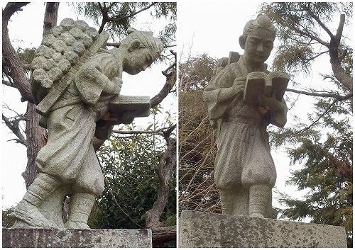 180106旧小学校跡地の二宮金次郎像