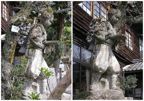 070411妻籠小学校の二宮金次郎像