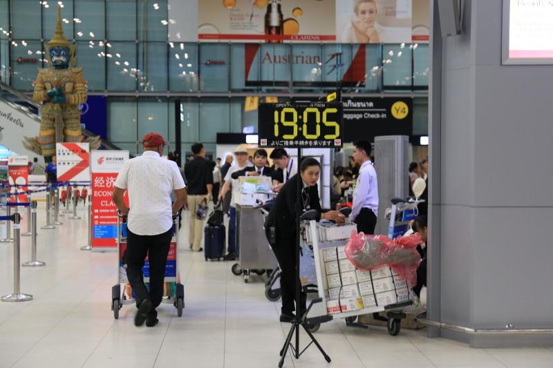 スワンナプーム国際空港 待ち時間