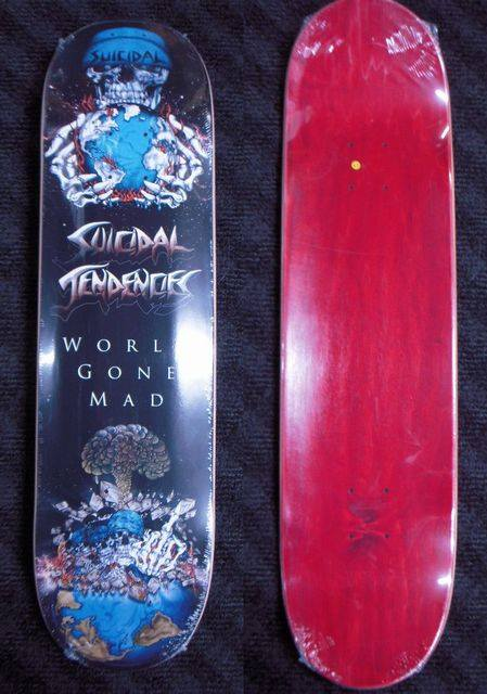 5 b Suicidal Tendencies World Gone Mad Limited Edition Popsicle Deck 8 x 3225 WB1425 Black