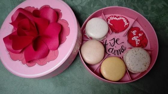 バレンタインのマカロン