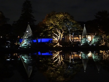 2018細川庭園ライトアップ1