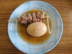 おでん(たまご、近江牛すじ肉)@白ひげ食堂