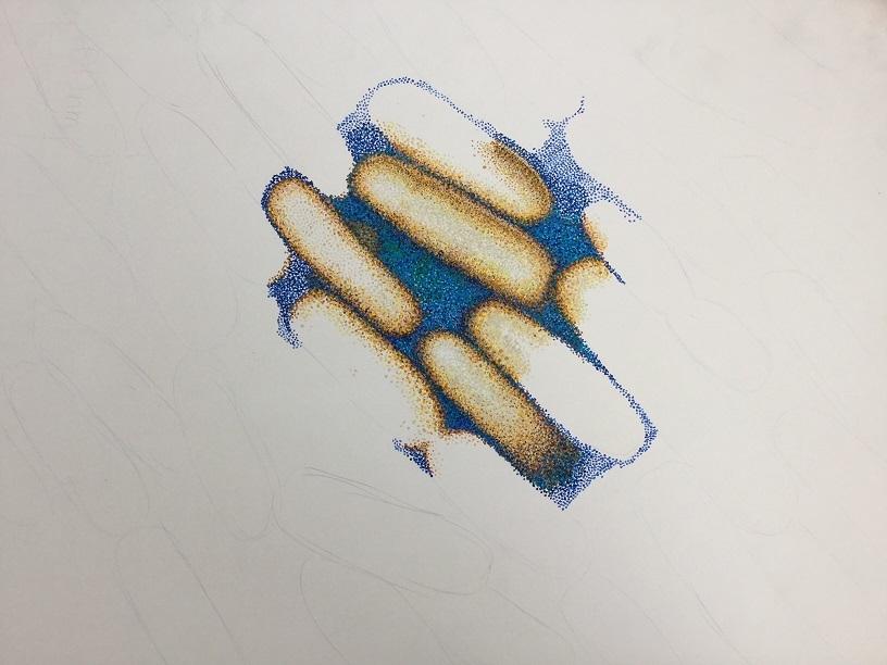 スーラの点描法によるウイルス.jpg