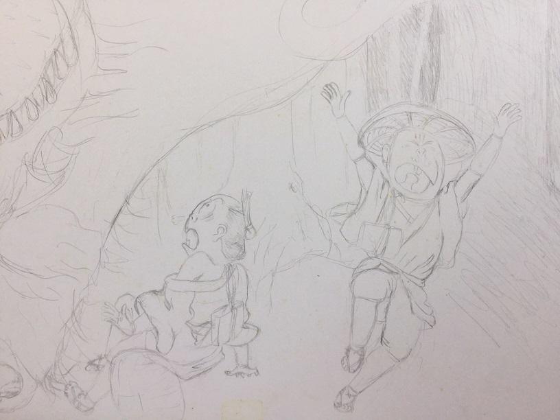 水木しげる風オリジナル妖怪絵第1号_2.jpg